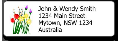 little stickers return address labels
