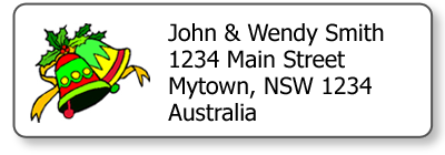 Xmas Bells Return Address Stickers